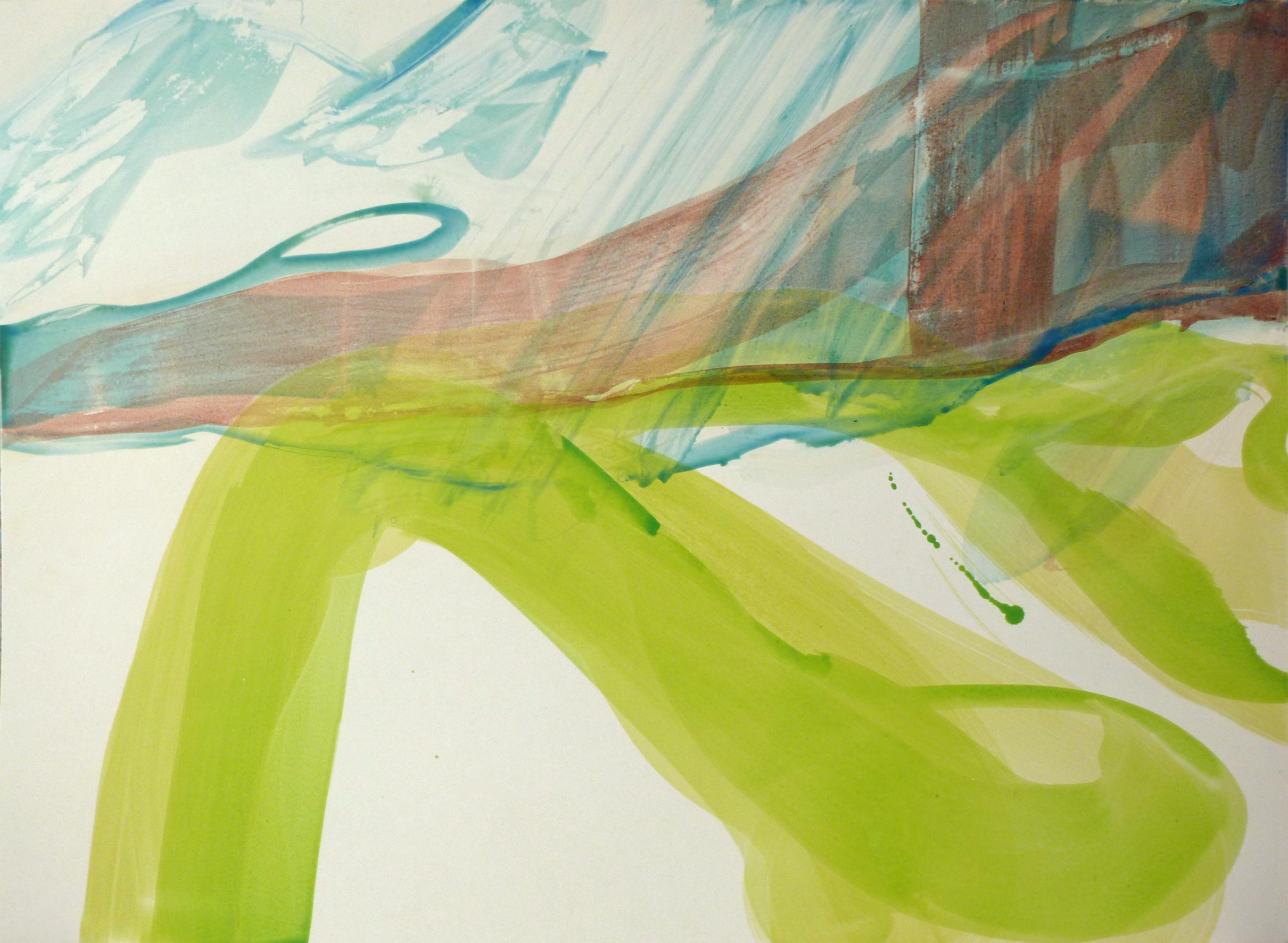 Watzmann, 2011, Acryl auf Papier, 85 x 119 cm © Uta Weil, VG Bild-Kunst, Bonn
