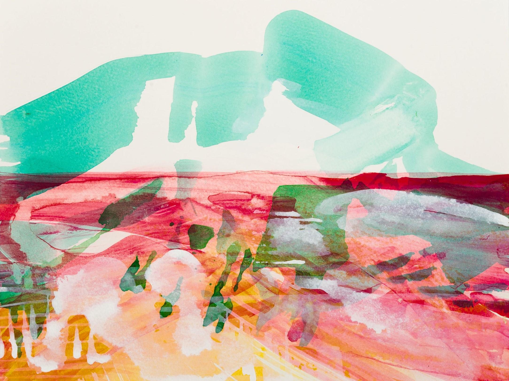 o.T., 2015, Acryl auf Papier, 30 x 40 cm, © Uta Weil, VG Bild-Kunst, Bonn