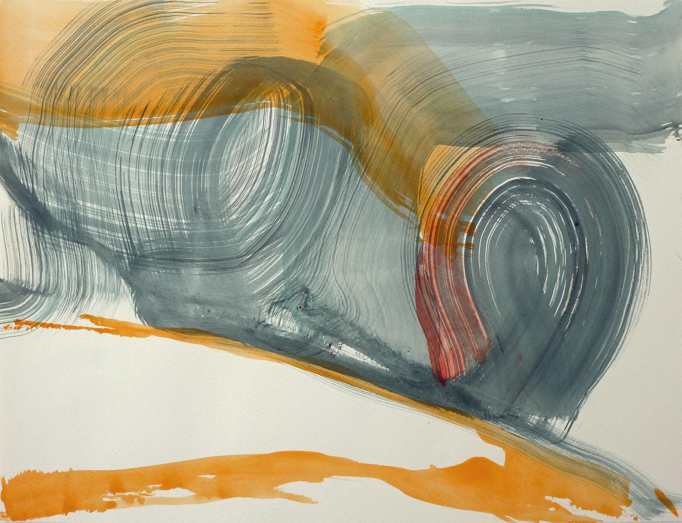 heuballenamhang, 2011, Acryl auf Papier, 36 x 48 cm © Uta Weil, VG Bild-Kunst, Bonn