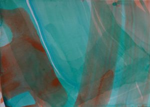 o.T.  15 x 21 cm, Acryl auf Papier, 2019 © Uta Weil, VG Bild-Kunst, Bonn