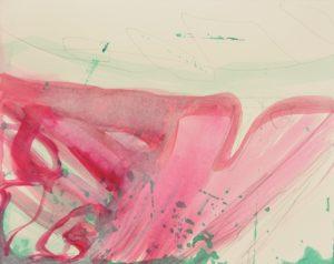 o.T.  20 x 25 cm, Acryl und Bleistift auf Papier 2018, © Uta Weil, VG Bild-Kunst, Bonn