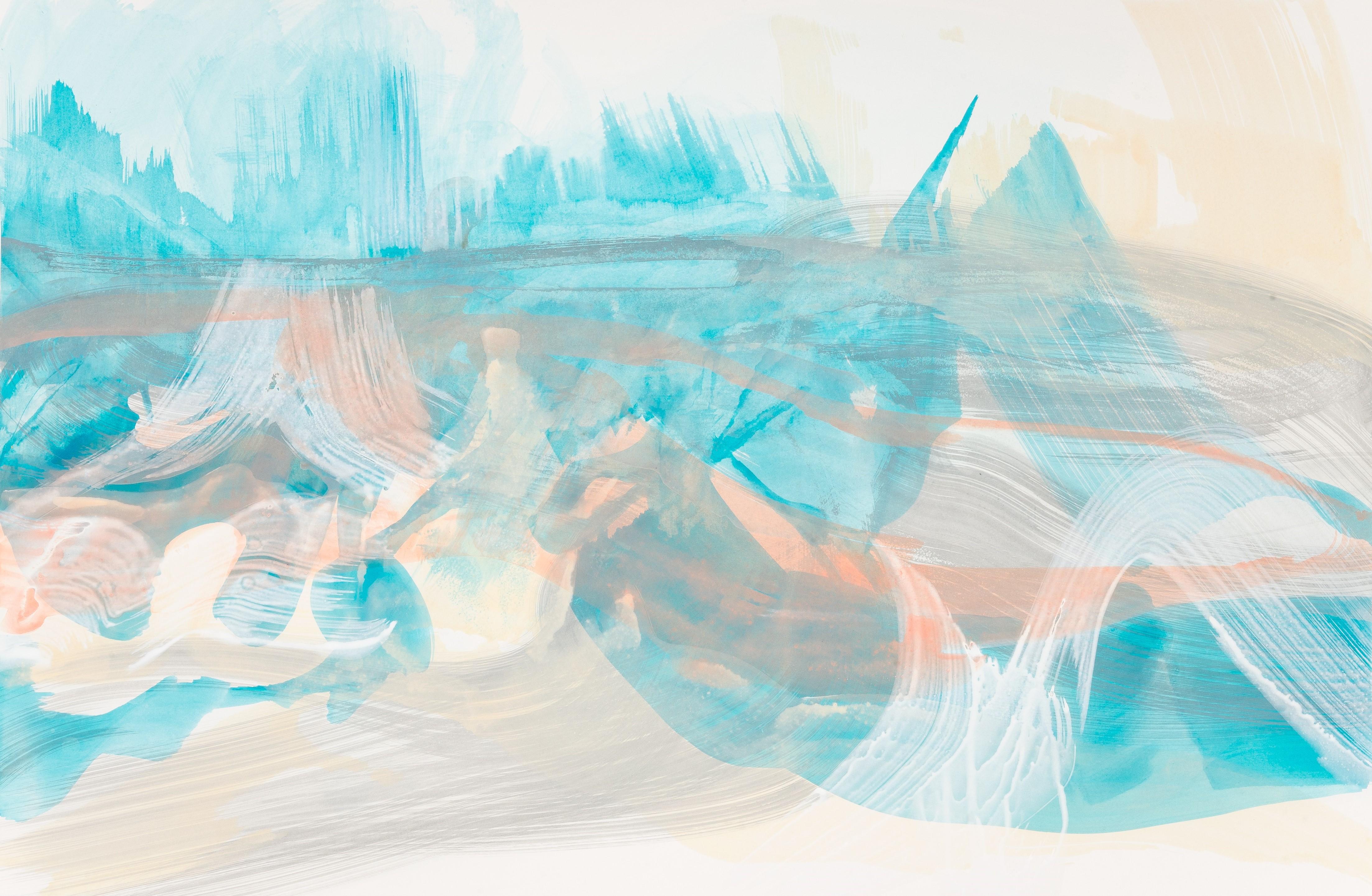 Unterwasser, 2014, Acryl auf Papier, 75 x 100 cm © Uta Weil, VG Bild-Kunst, Bonn